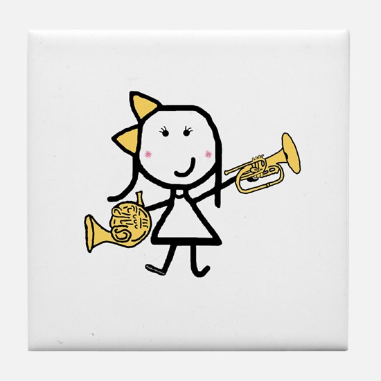 Mello & French Horn Tile Coaster