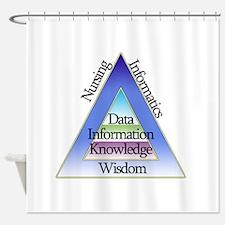 Data Triad Shower Curtain