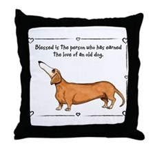 Old dog Love Throw Pillow