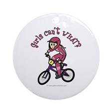 Light Pink BMX Ornament (Round)