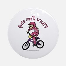 Light Pink BMX Ornament (Round)