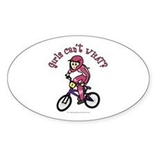 Light Pink BMX Oval Decal