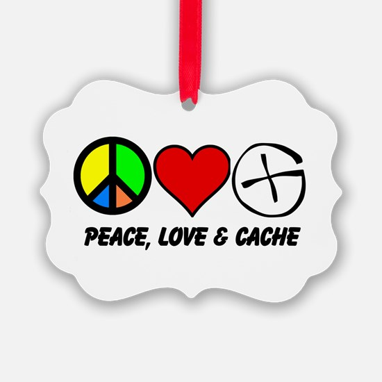 Peace, Love Cache Ornament