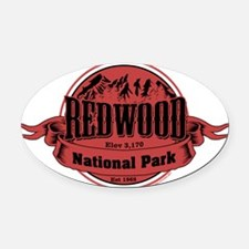 redwood 2 Oval Car Magnet