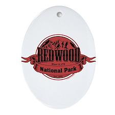 redwood 1 Ornament (Oval)