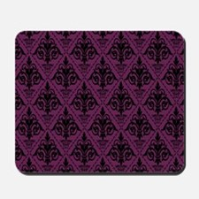 Black & Alyssum Damask #29 Mousepad
