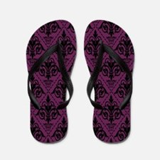 Black & Alyssum Damask #29 Flip Flops