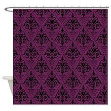 Black & Alyssum Damask #29 Shower Curtain