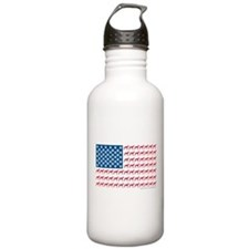 Patriotic Greyhounds Water Bottle