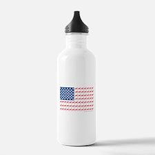 Patriotic Greyhounds Water Bottle