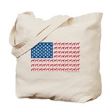 Greyhound patriotic Canvas Totes