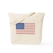 Patriotic Greyhounds Tote Bag