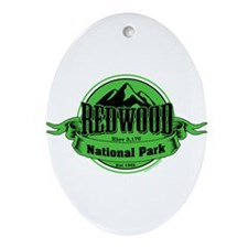 redwood 4 Ornament (Oval)