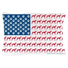 Patriotic Greyhounds Pillow Case