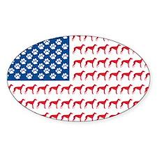 Patriotic Greyhounds Decal