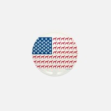 Patriotic Greyhounds Mini Button (10 pack)