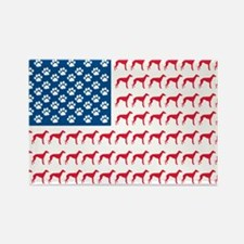 Patriotic Greyhounds Rectangle Magnet