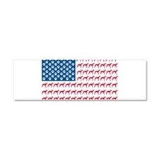 Patriotic Greyhounds Car Magnet 10 x 3