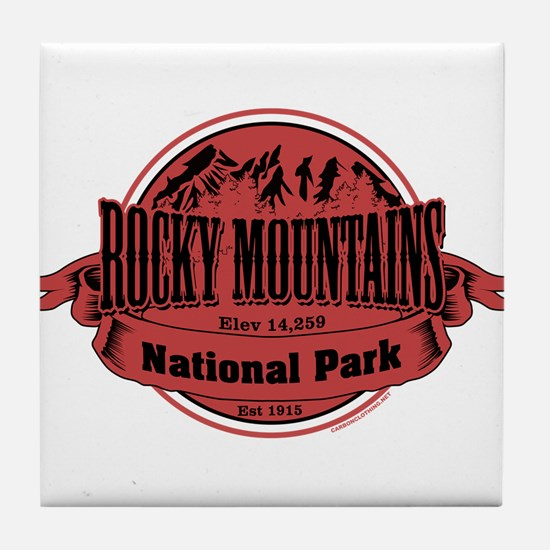 rocky mountains 2 Tile Coaster