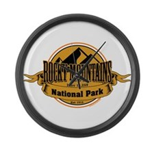 rocky mountains 5 Large Wall Clock