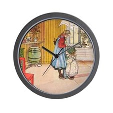Churning Butter (square) Wall Clock