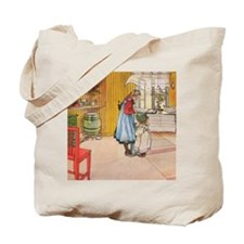 Churning Butter (square) Tote Bag