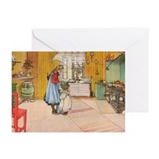 Churning Butter Greeting Cards (Pk of 10)