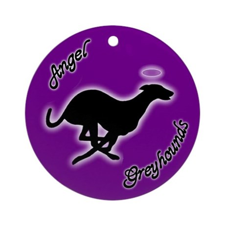 Angel Greyhounds Ornament (Round)