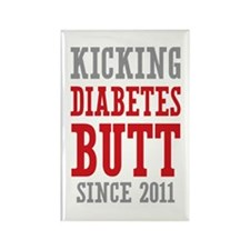 Diabetes Butt Since 2011 Rectangle Magnet (10 pack