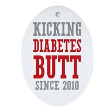 Diabetes Butt Since 2010 Ornament (Oval)