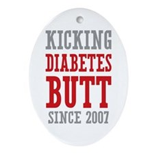 Diabetes Butt Since 2007 Ornament (Oval)