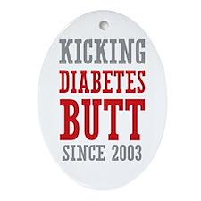 Diabetes Butt Since 2003 Ornament (Oval)