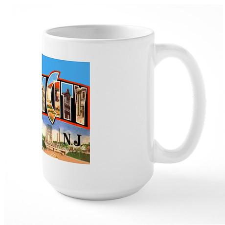 Jersey City New Jersey Greetings Large Mug