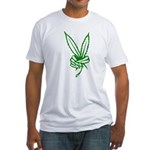 Marijuana Peace Sign Fitted T-Shirt
