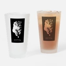 Viva La Cat Drinking Glass