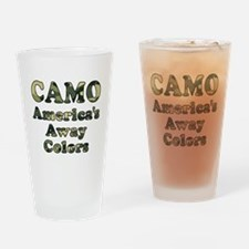 Camo America's Away Colors Drinking Glass
