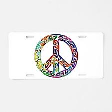 Pride and Peace Aluminum License Plate