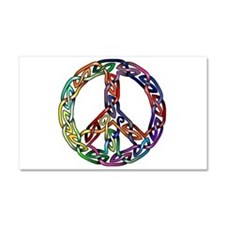 Pride and Peace Car Magnet 20 x 12