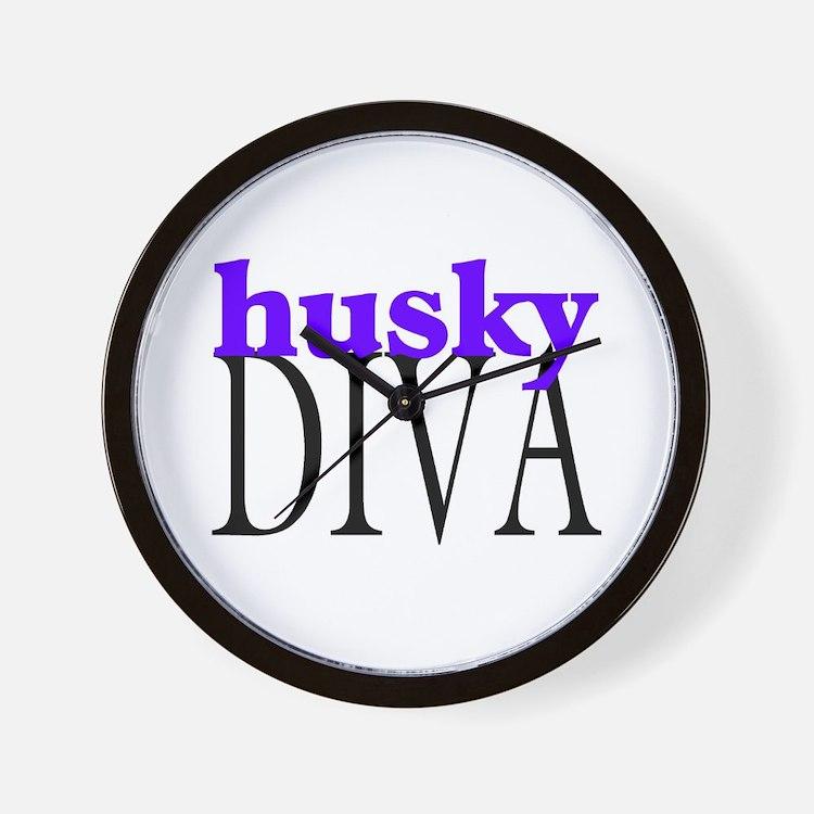 Husky Diva Wall Clock