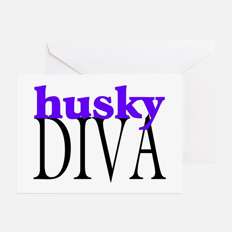 Husky Diva Greeting Cards (Pk of 10)