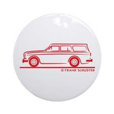 Volvo Amazon Kombi Ornament (Round)