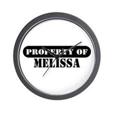 Property of Melissa Wall Clock