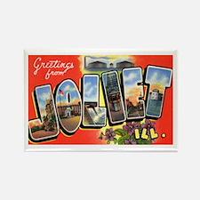 Joliet Illinois Greetings Rectangle Magnet
