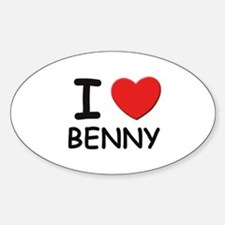 I love Benny Oval Decal