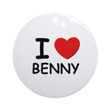 I love Benny Ornament (Round)