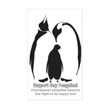 Support Gay Penguins! Rectangle Decal