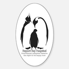 Support Gay Penguins! Oval Decal
