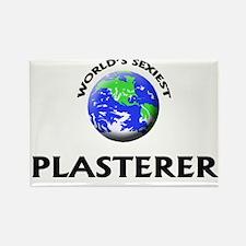 World's Sexiest Plasterer Rectangle Magnet