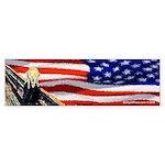 The Scream - USA Bumper Sticker
