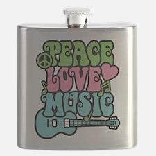 Peace-Love-Music Flask